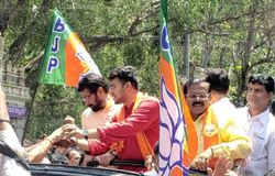 Tejasvi Surya files nomination papers
