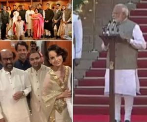 BOLLYWOOD STARS AT PM MODI SWEARING IN CEREMONY