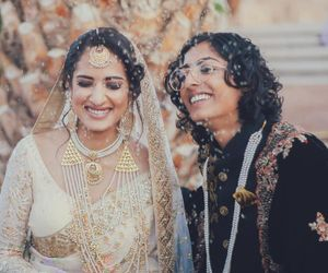 Indian Pakistani lesbian couple marry One dresses as bride other as groom