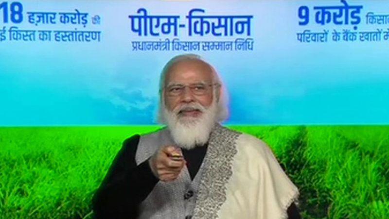 PM Modi releases Rs 18,000 crore in account of nine crore farmers under PM-KISAN scheme lns