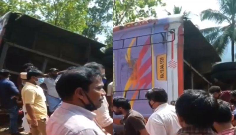 panathoor bus accident a k saseendran and rto hint at drivers mistake