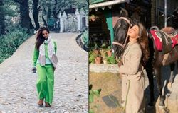 """<p style=""""text-align: justify;"""">In 2020, the outbreak of the virus had made all of us bound at our homes. So, our favourite Bollywood stars couldn't visit the places they like. But as soon as the regulations loosened they all went to either Goa, Maldives, Himachal Pradesh or Rajasthan to have a short trip. Here are the celebs who went to Himachal Pradesh, some to shoot and some to enjoy.</p>"""
